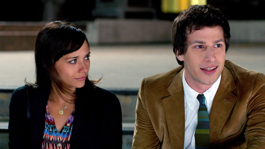 "<a href=""http://movies.yahoo.com/movie/celeste-and-jesse-forever/"">Celeste and Jesse Forever:</a> ""Parks and Recreation"" star Rashida Jones stars in (and co-wrote) this Sundance romcom about a divorcing couple -- SNL's Andy Samberg plays her better half -- who try to split amicably with laughable results."