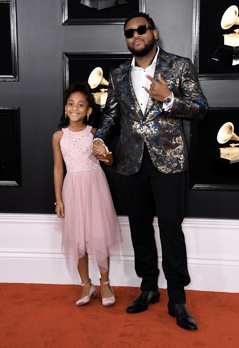 Producer Boi-1da and his daughter.