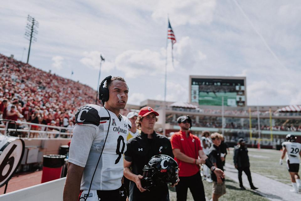 Desmond Ridder has a shot at emerging as one of the top QBs selected in next year's NFL draft. (Special to Yahoo Sports)