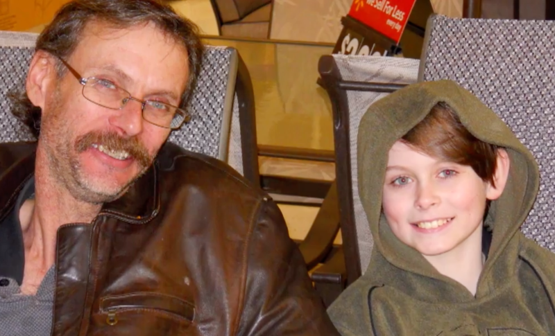Alan and Bryer Schmegelsky pictured several years ago in a photo where the accused murderer looks about 10 years of age.