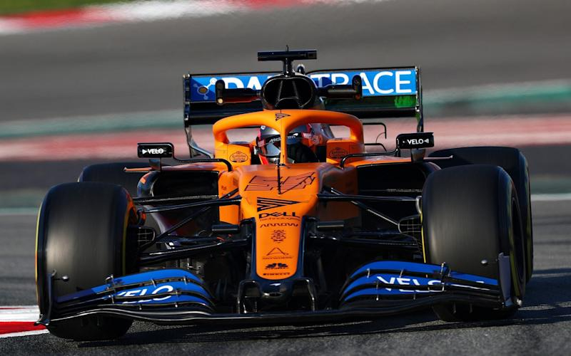 Carlos Sainz of Spain driving the (55) McLaren F1 Team MCL35 Renault on track during day one of Formula 1 Winter Testing at Circuit de Barcelona-Catalunya on February 19, 2020 in Barcelona, Spain - Dan Istitene - Formula 1
