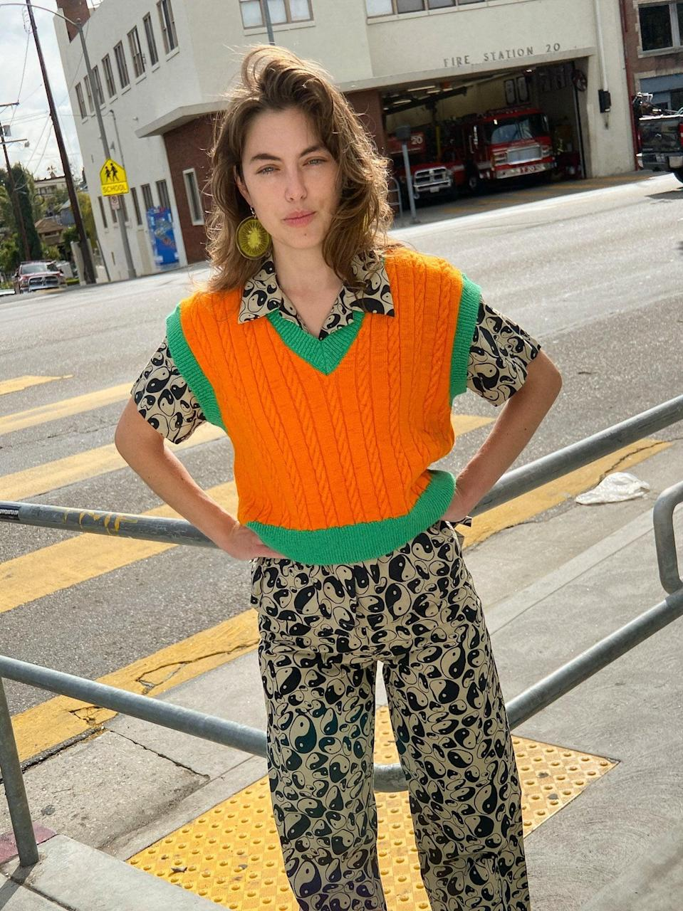<p>This <span>Lisa Says Gah Eva Sweater Vest</span> ($104, originally $149) will make a colorful addition to your spring closet.</p>
