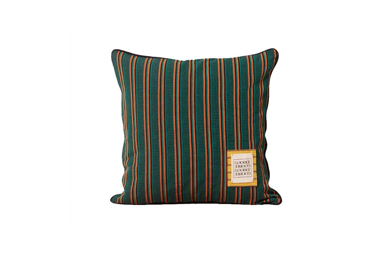 """$149, Goodee. <a href=""""https://www.goodeeworld.com/collections/all/products/goodee-teal-pillow"""">Get it now!</a>"""