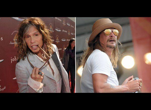 "Kid Rock had a big problem with Aerosmith frontman Steven Tyler taking on a new gig as a judge on ""American Idol"" in 2010. Kid Rock didn't believe a true rock star would even think about working for a show like ""Idol"" and proceeded to trash Tyler for it. <a href=""http://today.msnbc.msn.com/id/39954827/ns/today-entertainment/t/kid-rock-slams-steven-tylers-american-idol-gig/#.T2ICPGLLwbI"" target=""_hplink"">Rock told<em> Entertainment Weekly,</em></a> ""I think it's the stupidest thing he's ever done in his life. He's a sacred American institution of rock and roll, and he just threw it all out the window. Just stomped on it and se it on fire."" At a press conference, Tyler <a href=""http://www.rollingstone.com/music/news/steven-tyler-on-kid-rock-hes-just-jealous-20101105"" target=""_hplink"">responded</a>, ""He's just jealous, he's just jealous. And he's working on his new record, so God bless him."""