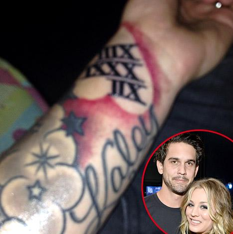 Ryan Sweeting Gets Wife Kaley Cuoco's Name Tattooed Across His Forearm: See the Picture