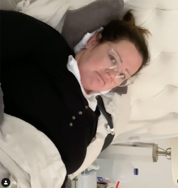 Melissa McCarthy after spider bite Australia Instagram post.