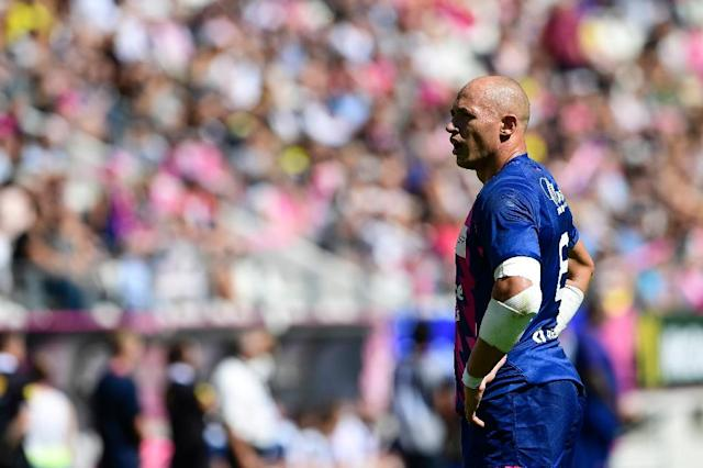 Italy captain Sergio Parisse was sanctioned for an incident while playing with his French Top 14 club Stade Francais (AFP Photo/Miguel Medina)
