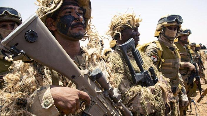 Armed forces of Egypt and Sudan complete a joint military exercise in southern Kardavan province, Sudan on May 31, 2021