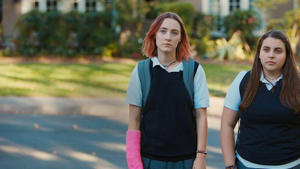 "<p>Some movies have a romanticized view of the teenage years — Lady Bird does not. Instead, it follows a high school senior as she flounders through her last year of high school, trying to navigate her relationships with boys, old friends, new friends and her mother.</p><p><a class=""link rapid-noclick-resp"" href=""https://www.netflix.com/watch/80205227"" rel=""nofollow noopener"" target=""_blank"" data-ylk=""slk:WATCH NOW"">WATCH NOW</a></p>"