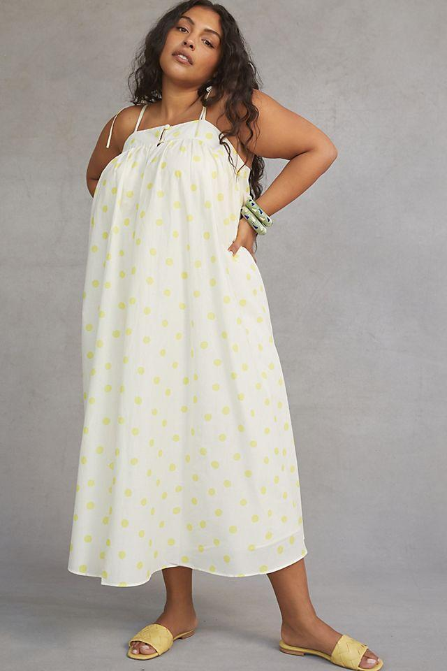 """<br><br><strong>WHIT Two</strong> Polka Dot Maxi Dress, $, available at <a href=""""https://go.skimresources.com/?id=30283X879131&url=https%3A%2F%2Fwww.anthropologie.com%2Fshop%2Fwhit-two-polka-dot-maxi-dress"""" rel=""""nofollow noopener"""" target=""""_blank"""" data-ylk=""""slk:Anthropologie"""" class=""""link rapid-noclick-resp"""">Anthropologie</a>"""