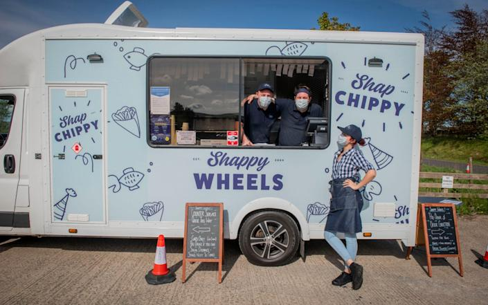 Shappy Wheels, the mobile fish and chip initiative from Shap Chip Shop - Chris Watt
