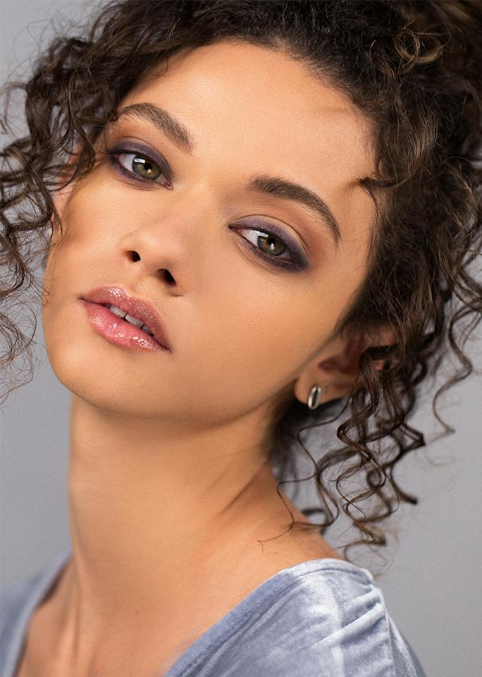 """<strong>STEP 2:</strong>  Trace an eggplant-colored gel liner (""""gel and kohl eyeliners are easiest to blend out,"""" says Ciucci, who used <a rel=""""nofollow"""" href=""""http://www.charlottetilbury.com/us/rock-n-kohl-elizabeth-violet.html"""">Charlotte Tilbury Rock 'N' Kohl Eyeliner in Elizabeth Violet</a>) along the upper and lower lash line—keeping the line as thin and as close to the lashes as possible—then soften it by rubbing a clean <a rel=""""nofollow"""" href=""""http://www.sephora.com/pro-smudge-brush-11-P313028"""">smudge brush</a> back and forth over the liner to smoke it out."""