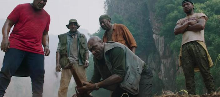 """<p>Spike Lee's latest joint is a straight-to-Netflix original about a group of aging Vietnam veterans who head back to the country in search of their former squad leader's remains…and a stash of gold they buried there. It stars Chadwick Boseman, Delroy Lindo, Jasper Pääkkönen, Paul Walter Houser, and Jonathan Majors—and as with any Lee-helmed project, there are many complex layers to its social commentary. </p> <p><a href=""""https://www.netflix.com/title/81045635"""" rel=""""nofollow noopener"""" target=""""_blank"""" data-ylk=""""slk:Available to stream on Netflix"""" class=""""link rapid-noclick-resp""""><em>Available to stream on Netflix</em></a></p>"""