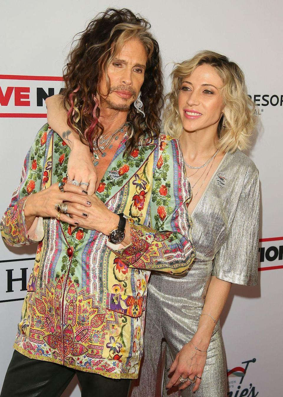 <p><strong>Age gap:</strong> 39 years</p><p>Steven, 71, and Aimee, 30, are happily engaged. Aimee started as the Aerosmith rocker's personal assistant, but the pair finally went public with their romantic relationship in 2016. Fun fact: She also used to work for Victoria Beckham <em>and</em> the Trump family. </p>
