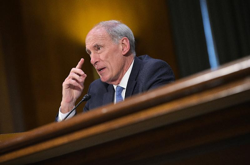 Dan Coats testifies before the Senate Intelligence Committee on his nomination to be the next director of national intelligence in the Dirksen Senate Office Building on February 28, 2017 on Capitol Hill in Washington, DC