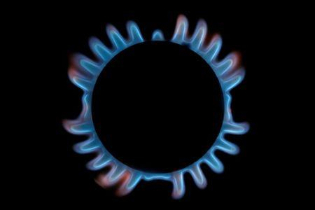 FILE PHOTO: A gas hob is seen in this photo illustration