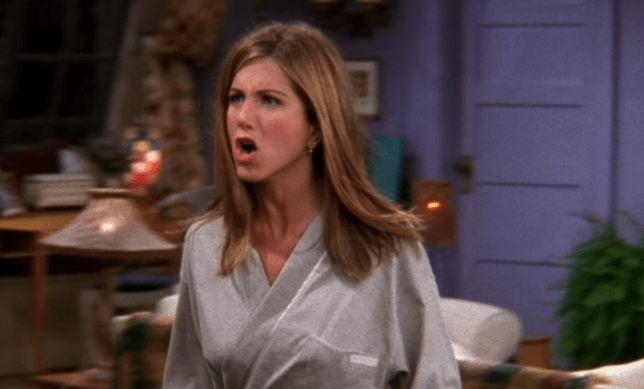 """""""It's not that common, it doesn't happen to every guy and it is a big deal!"""" Rachel yelled at Ross (Photo: NBC)"""
