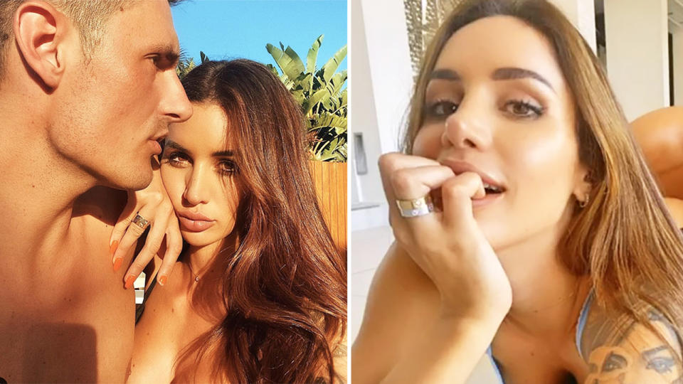 Bernard Tomic, pictured here on OnlyFans with new girlfriend Vanessa Sierra.