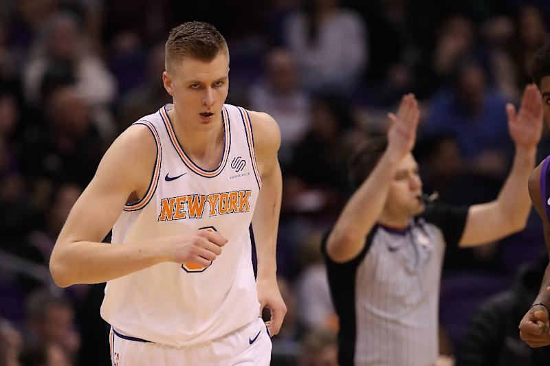 Carmelo Anthony devastated for 'little brother' Kristaps Porzingis