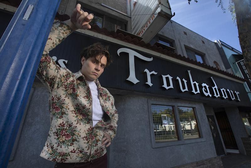 Spencer Sutherland outside the Troubadour.