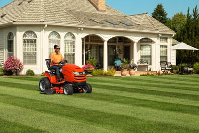 Simplicity adds ergonomic power steering and hydraulic lift systems to select ride mowers