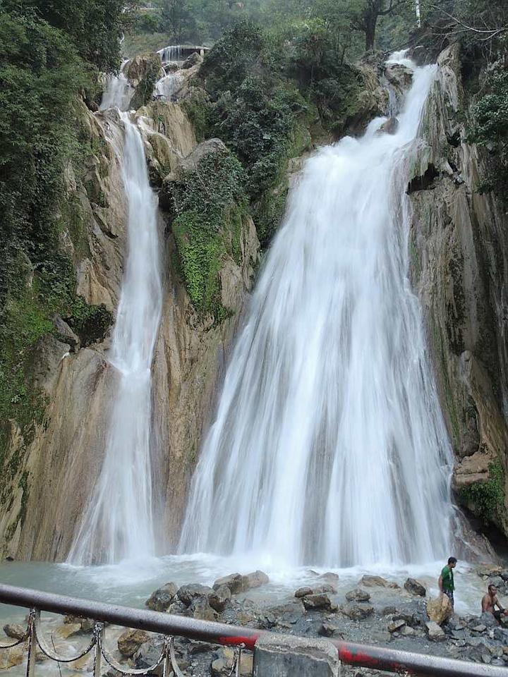 "Kempty Falls in Mussoorie, Uttarakhand. The falls are located 15 km from Mussoorie on the Chakrata Road and is a sought-after tourist spot. The falls are located at an altitude of 4,500 feet in the Himalayan foothills. <br><br>by <a target=""_blank"" href=""https://www.flickr.com/photos/85346190@N06/"">nks16</a>/ Flickr"