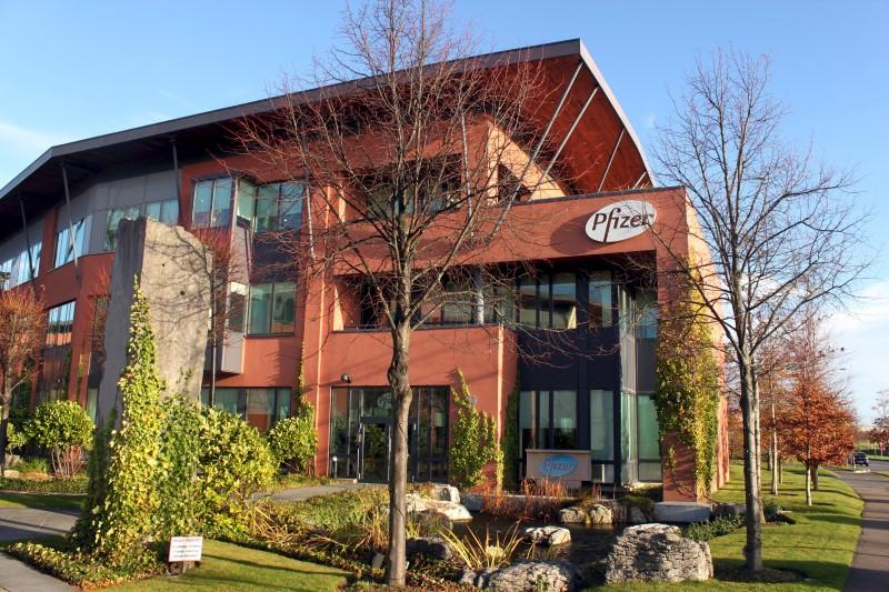 Exterior view of Pfizer offices in Citywest, Dublin, Ireland