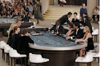 <p>This show was worth the gamble. Taking centre stage at the Couture Fall show actors Julianne Moore and Kristen Stewart kicked off the Chanel casino with a round of blackjack before models made their way to the runway - and by runway we mean the casino floor. </p>