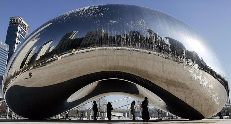Chicago controversy: Anish Kapoor's Cloud Gate featured in an advertisement produced by the National Rifle Association: AFP/Getty Images