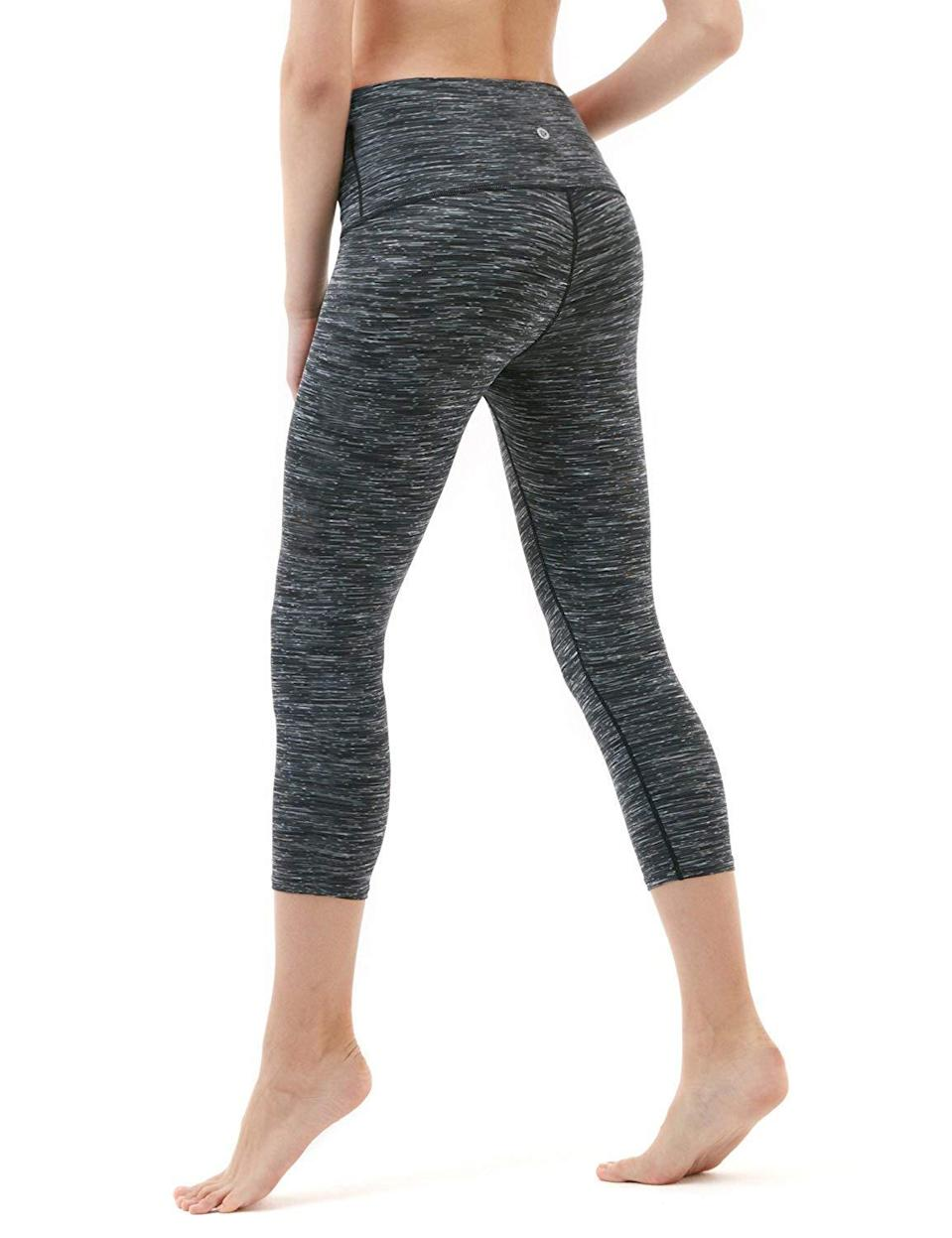 """<h3><a href=""""https://amzn.to/37oPqJw"""" rel=""""nofollow noopener"""" target=""""_blank"""" data-ylk=""""slk:TSLA High-Rise Leggings"""" class=""""link rapid-noclick-resp"""">TSLA High-Rise Leggings</a></h3><br><strong>Wendy</strong><br><br><strong>How She Discovered It:</strong> """"Looking through Amazon for yoga pants and it had great reviews."""" <br><br><strong>Why It's A Hidden Gem:</strong> """"I took a year off from work to try to get my life back in order. Part of that process was becoming a certified yoga teacher. Teaching yoga pays next to nothing and I was looking for yoga pants that fit well, felt good, didn't stretch out right away and didn't cost me a fortune. I stumbled on these: $14 for a pair of yoga pants that I wear several times a week, wash over and over and they still keep their shape, aren't see-through, and look good. I went back and bought other colors, but the space-dyed charcoal are still my favorite. I get compliments on them all the time and I love that I didn't have to spend a fortune!""""<br><br><strong>TSLA</strong> High-Rise Yoga Capris With Pockets, $, available at <a href=""""https://amzn.to/38m2uRt"""" rel=""""nofollow noopener"""" target=""""_blank"""" data-ylk=""""slk:Amazon"""" class=""""link rapid-noclick-resp"""">Amazon</a>"""