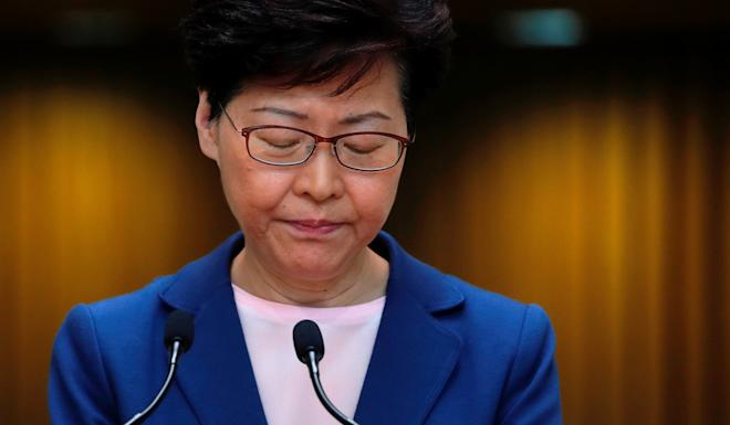 Carrie Lam is the least popular chief executive since the city's return to Chinese rule. Photo: Reuters