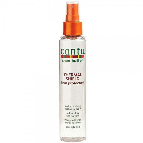 """<p><strong>Cantu</strong></p><p>walmart.com</p><p><strong>$6.51</strong></p><p><a href=""""https://go.redirectingat.com?id=74968X1596630&url=https%3A%2F%2Fwww.walmart.com%2Fip%2F847227925&sref=https%3A%2F%2Fwww.thepioneerwoman.com%2Fbeauty%2Fhair%2Fg34919086%2Fbest-heat-protectant-for-hair%2F"""" rel=""""nofollow noopener"""" target=""""_blank"""" data-ylk=""""slk:Shop Now"""" class=""""link rapid-noclick-resp"""">Shop Now</a></p><p>Shea butter isn't just for skin. This lightweight spray will infuse your locks with the powerhouse moisturizer, which is great for natural and relaxed hair. </p>"""