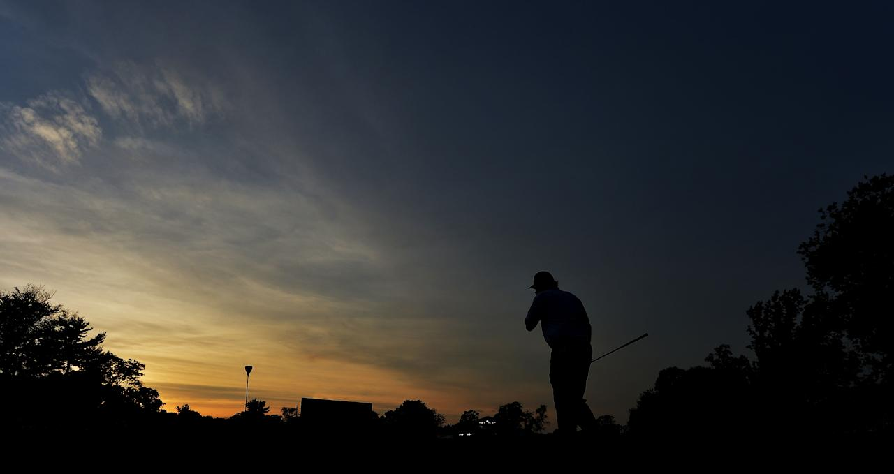 ARDMORE, PA - JUNE 15: Phil Mickelson of the United States walks across the 18th green during Round Three of the 113th U.S. Open at Merion Golf Club on June 15, 2013 in Ardmore, Pennsylvania. (Photo by Drew Hallowell/Getty Images)