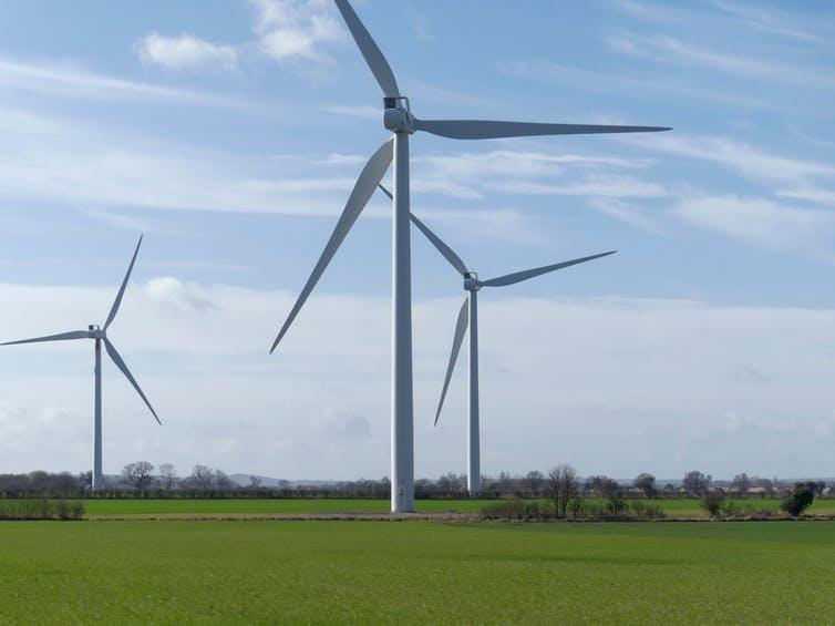 """<span class=""""caption"""">Onshore wind and solar energy are unlikely to play an important role in the Conservatives' decarbonisation plans.</span> <span class=""""attribution""""><a class=""""link rapid-noclick-resp"""" href=""""https://www.shutterstock.com/image-photo/onshore-wind-turbine-farm-countryside-bedfordshire-1572773548"""" rel=""""nofollow noopener"""" target=""""_blank"""" data-ylk=""""slk:CarlsPix/Shutterstock"""">CarlsPix/Shutterstock</a></span>"""