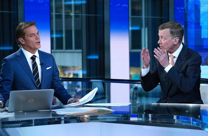 Fox anchor Bill Hemmer interviews former Governor of Colorado John Hickenlooper during