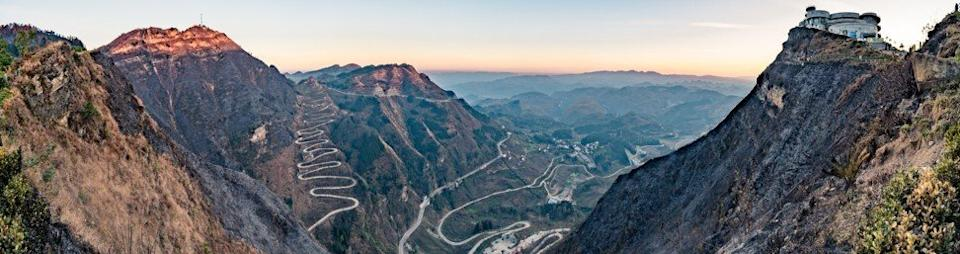 "The WeChat group sent Li a photo of a famous road in Qinglong that Dezliangz remembered – the ""24 Bends"". Photo: Shutterstock"