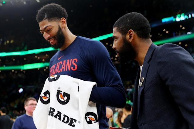 Kyrie Irving reportedly wants to play with Anthony Davis next season. (Photo by Maddie Meyer/Getty Images)