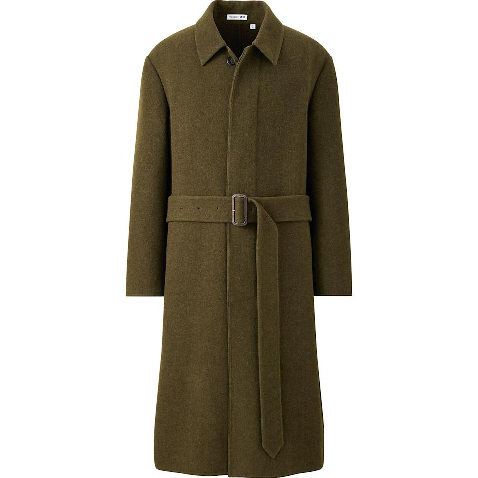 """<p>uniqlo.com</p><p><strong>$149.90</strong></p><p><a href=""""https://go.redirectingat.com?id=74968X1596630&url=https%3A%2F%2Fwww.uniqlo.com%2Fus%2Fen%2Fmen-double-faced-single-breasted-coat-jw-anderson-432054.html&sref=https%3A%2F%2Fwww.esquire.com%2Fstyle%2Fmens-fashion%2Fg34384963%2Funiqlo-jw-anderson-fall-winter-2020-collection%2F"""" rel=""""nofollow noopener"""" target=""""_blank"""" data-ylk=""""slk:Shop Now"""" class=""""link rapid-noclick-resp"""">Shop Now</a></p>"""