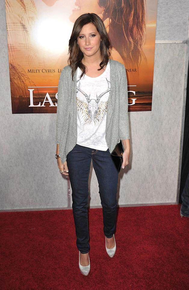 """<a href=""""http://movies.yahoo.com/movie/contributor/1804504114"""">Ashley Tisdale</a> at the Los Angeles premiere of <a href=""""http://movies.yahoo.com/movie/1810098775/info"""">The Last Song</a> - 03/25/2010"""