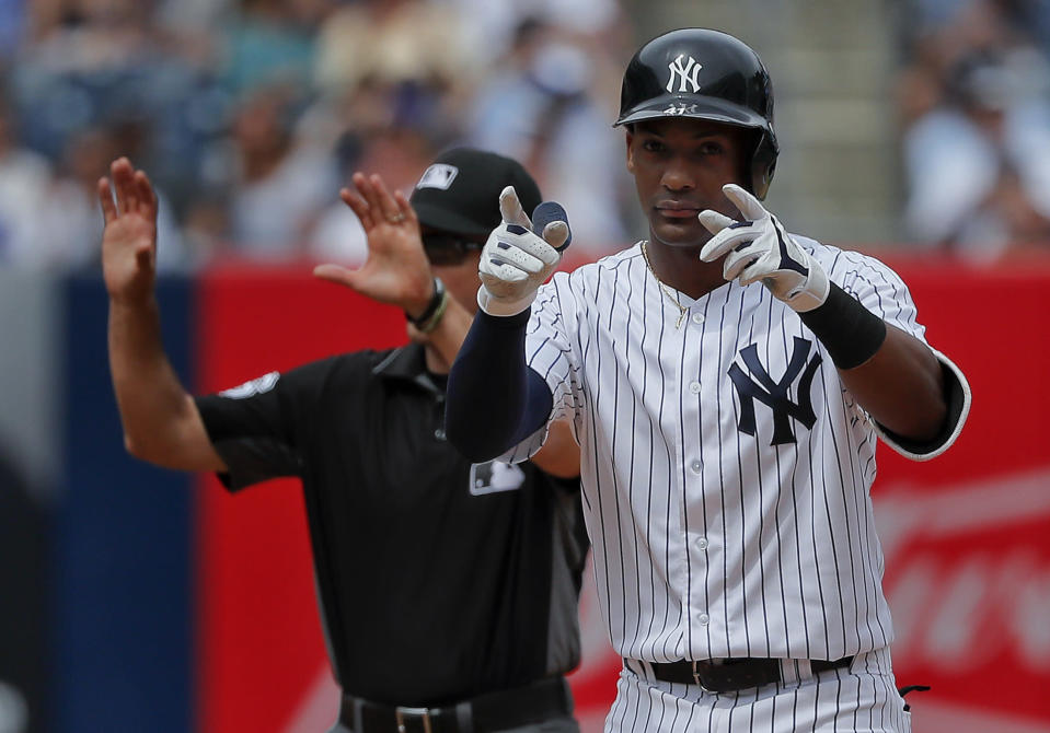 Ten years ago, Miguel Andújar would've won Rookie of the Year in a landslide because he had a better batting average and more home runs and RBIs. (AP)