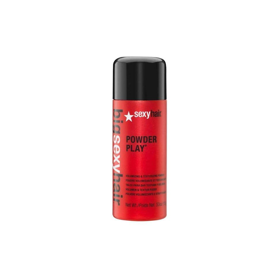 """<p><strong>SEXYHAIR</strong></p><p>amazon.com</p><p><strong>$18.95</strong></p><p><a href=""""https://www.amazon.com/dp/B00390DN34?tag=syn-yahoo-20&ascsubtag=%5Bartid%7C10049.g.33371593%5Bsrc%7Cyahoo-us"""" rel=""""nofollow noopener"""" target=""""_blank"""" data-ylk=""""slk:Shop Now"""" class=""""link rapid-noclick-resp"""">Shop Now</a></p><p>I mean, this volumizing powder has <a href=""""https://www.amazon.com/dp/B00390DN34#customerReviews"""" rel=""""nofollow noopener"""" target=""""_blank"""" data-ylk=""""slk:3,600 glowing reviews"""" class=""""link rapid-noclick-resp"""">3,600 glowing reviews</a> on Amazon, and has also been a beauty editor and hairstylist favorite for years. Why? Because all it takes is a tiny sprinkle of powder throughout your roots, a quick massage with your fingers, and <strong>you're left with almost infomercial-worthy grit, texture, and volume</strong>.</p>"""