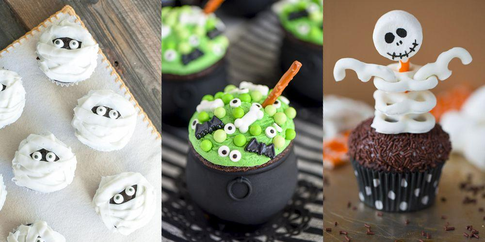 "<p>When you're planning a <a rel=""nofollow"" href=""https://www.goodhousekeeping.com/holidays/halloween-ideas/g2618/halloween-games/"">Halloween party</a>, festive cupcakes should always be a part of the deal. And whether you're going <a rel=""nofollow"" href=""https://www.amazon.com/Betty-Crocker-Baking-Super-Yellow/dp/B00YU5WQ3K/"">box mix</a> or homemade, these easy-to-pull off decorating ideas will bring that sweet, sweet sugar high in no time. </p>"