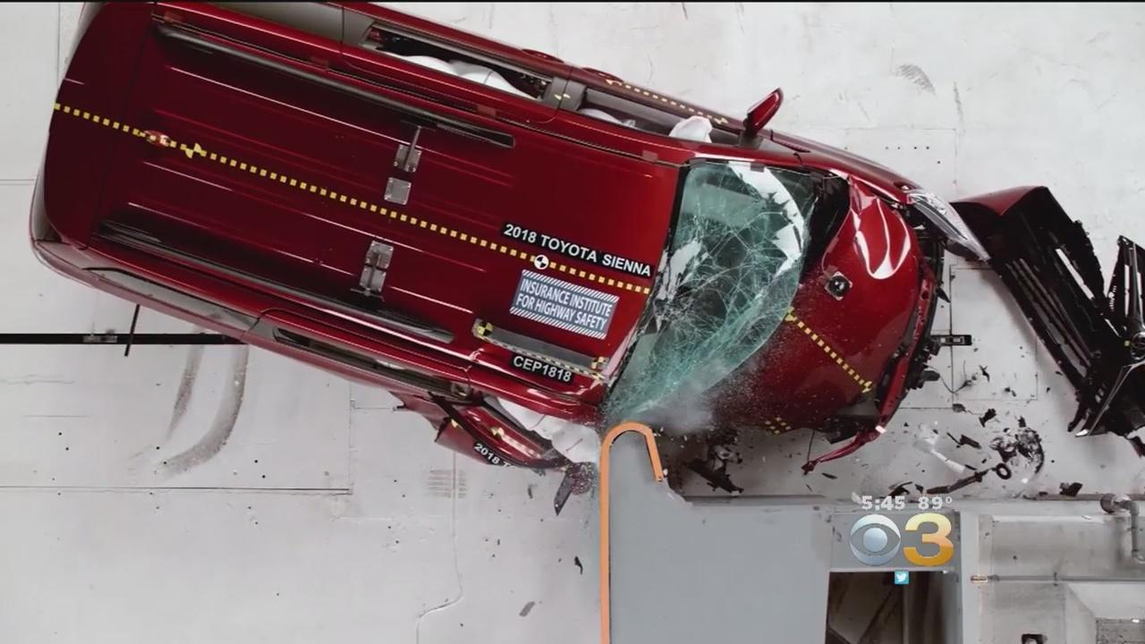 Researchers tested three minivans, the Honda Odyssey, Chrysler Pacifica and Toyota Sienna to see how they performed in crash tests on the front corner of the passenger side.