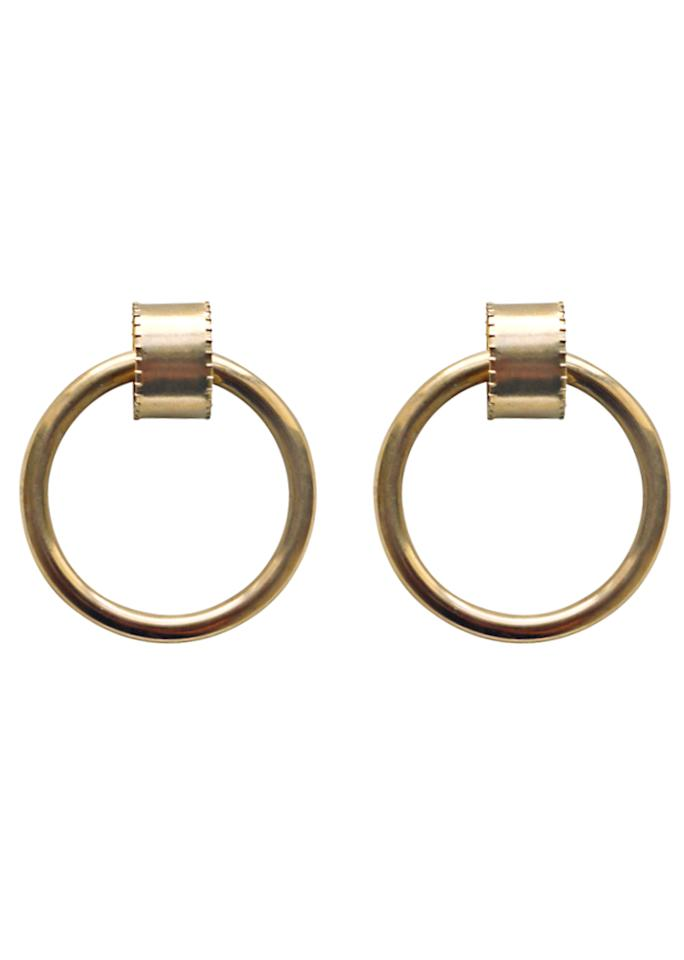 "Laura Lombardi Ruota Hoops, $150; at <a rel=""nofollow"" href=""http://www.lauratlombardi.com/shop/routa-hoops"" rel="""">Laura Lombardi </a>"