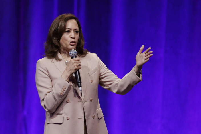 Kamala Harris speaks during the National Urban League conference in Indianapolis last month. (Photo: Darron Cummings/AP)
