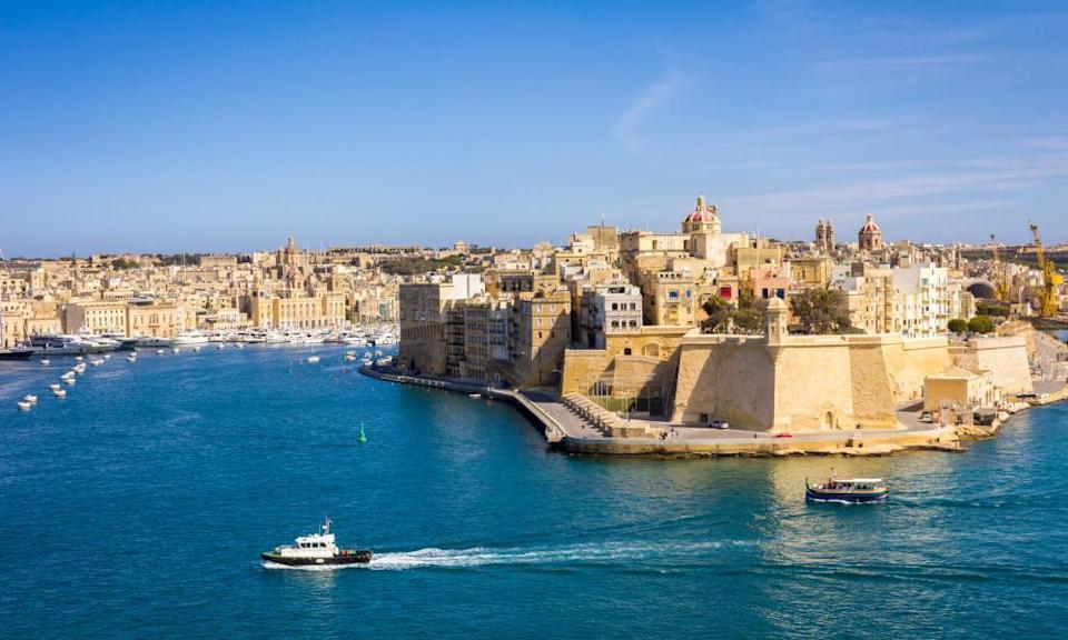 View of Paola City from Valletta