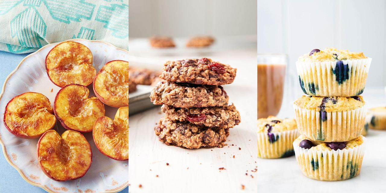 "<p>You might think healthy <a href=""https://www.delish.com/uk/easy-baking-recipes/"" target=""_blank"">baking recipes</a> are hard to come by, but really there's lot of healthier, just as delicious baking recipes out there for you to give a go. All it takes is swapping in some quality, healthy ingredients and perhaps using less sugar! And voila, you have yourself a much healthier baking recipe than before... </p>"