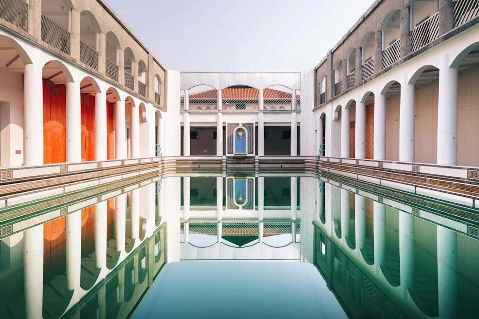 Venue of the upcoming Xcommons, Columbia Circle Swimming Pool. It will be transformed into a show space during Shanghai Fashion Week.