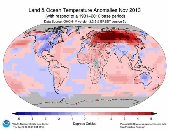 November Was the Hottest on Earth Since 1880