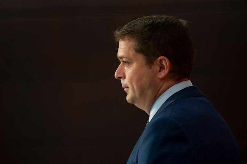 Conservative Leader Andrew Scheer speaks during a news conference on July 8, 2020 in Ottawa. (Photo: Adrian Wyld/CP)